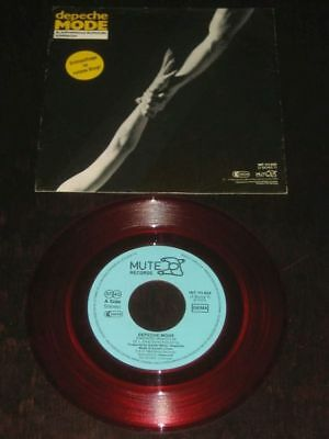 Depeche Mode rare '84 German 45  Blasphemous Rumours on Mute RED VINYL EX+