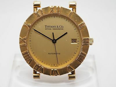 Tiffany & Co. Atlas Chronometer Automatik Datum 18k 750er Gold Herren Armbanduhr
