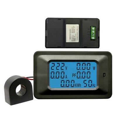 6 IN 1 LCD Digital AC Voltmeter 100A/20A 110~250V Monitor Meter Hz Power US