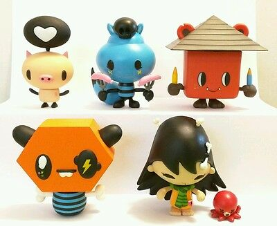 Kidrobot Cannibal Funfair! , Set Of 5
