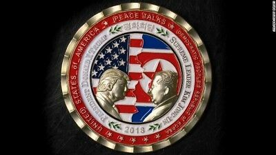 PRESALE - Pres. Trump - Kim Jong-Un NoKo Peace Talks / Summit Commemorative Coin