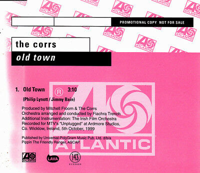The Corrs - Old Town Cd Single Promo 1 Tracks 1999