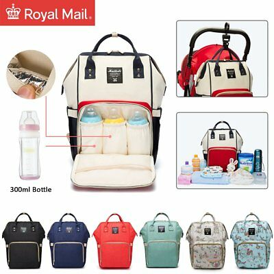 Waterproof Large Mummy Baby Diaper Nappy Backpack Mom Changing Travel Bag UK