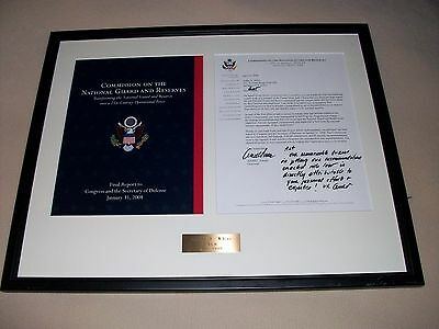 Matted and glass framed U.S. Military Correspondence signed by Arnold L. Punaro