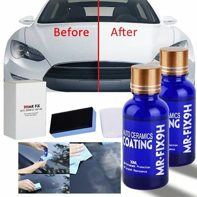 2pcs Car Polish 9H MR FIX Nano Hydrophobic Waterproof Glass Coating Ceramic BU