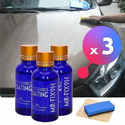3 x MR FIX 9H Anti-scratch Car Liquid Ceramic Nano Hydrophobic Car Glass Coa NEW