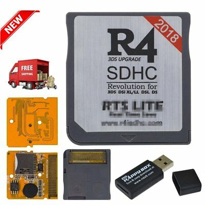 2018 Upgrade R4 SDHC Micro SD Memory Adapter Card F DS 3DS 2Ds Ndsi Ndsl Nds R6