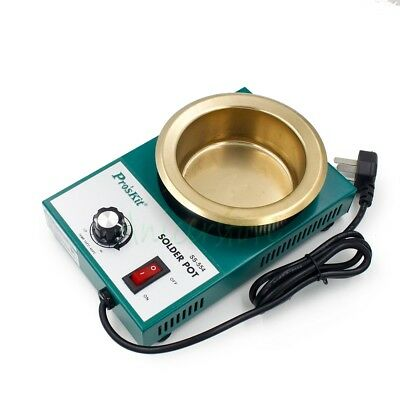 300W Lead Free Solder Pot Tin Melting Furnace Desoldering Bath 100mm 2.2kg 220V