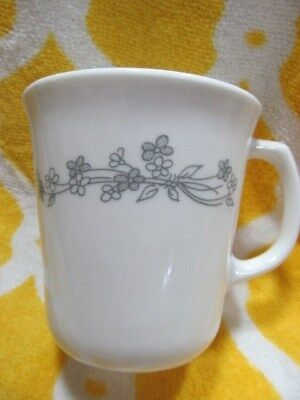 CORNING CORELLE RIBBON Bouquet Coffee Tea Mug Cup Silver Flower ...