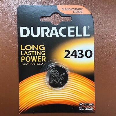 Duracell CR2430 3V Lithium Coin Cell Battery DL2430 K2430L 2430 LONGEST EXPIRY