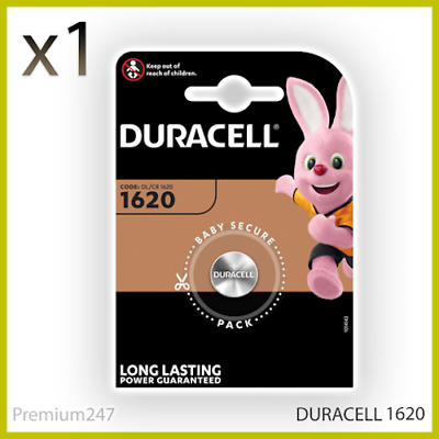 Duracell CR1620 Coin Cell Battery 3V Lithium DL1620 1620 BR1620 LONGEST EXPIRY