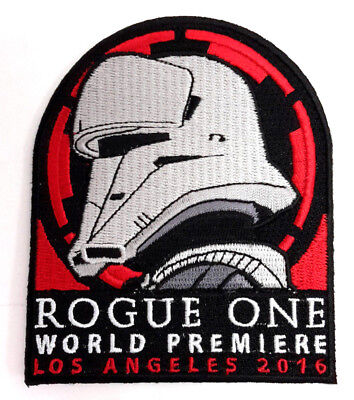"""Star Wars  Rogue One World Premiere 4"""" Embroidered Patch- USA Mailed(SWPA-KL-26)"""