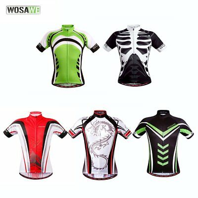 WOSAWE Quick Dry Bicycle Clothing Riding Cycling Jersey Tops Short Sleeves GT