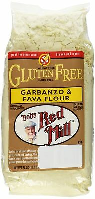 Bob's Red Mill Gluten Free Garbanzo Fava Flour , 22 Ounce (Pack of 2)