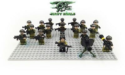 17PCS United States Navy Seals Special Force Building Blocks Military DIY Toys