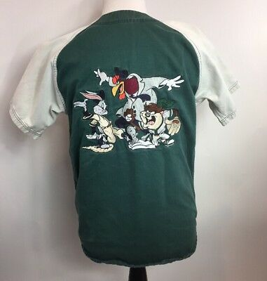 1995 Looney Tunes Acme All-Stars Warner Bros Embroidered Baseball Jersey Mens S