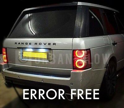 RANGE ROVER VOGUE L322 CREE LED XENON WHITE NUMBER PLATE Light Bulbs No Errors