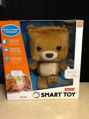 Fisher-Price Smart Toy Talking Learning Interactive Plush Stuffed Bear New