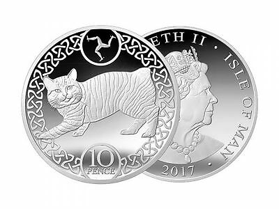 ISLE OF MAN 10 pence coin - MANX CAT 2017 NEW British coin of EUROPE