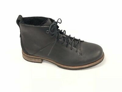 6fcc5b23577 UGG KEATON LACE-UP Black Leather Sheepskin Lined Boots - Model 1012141  Ankle New