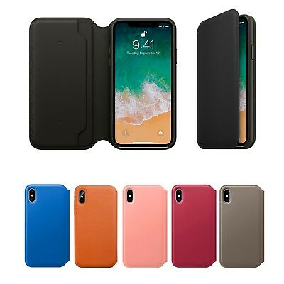 Genuine Leather Folio Flip Wallet Case Cover For Apple iPhone 11 10 X 8 7 6 Plus
