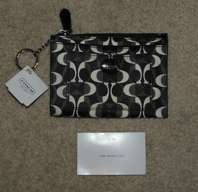 New Coach Signature Peyton Dream C Skinny Keychain Wallet, F50525, NWT