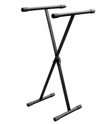 Folding H/Duty xFrame Type Keyboard Stand Wth Height Adjustment in Black