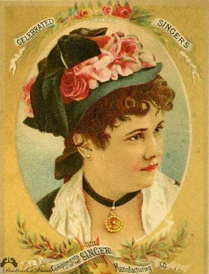 Singer Sewing Machine Victorian Trade Card