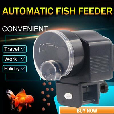 Auto LCD Automatic Fish Feeder Aquarium Tank Electronic Fish Food Feeder Timer S