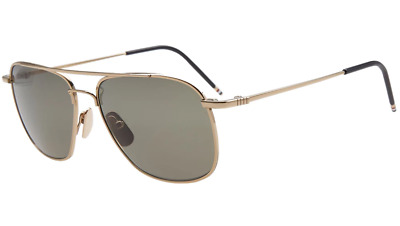 0420554986c Authentic THOM BROWNE 103 A-GLD 12K Gold Sunglasses 12k Gold Plated  NEW