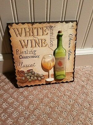 """Wine Decorative Art... """"3 D""""  8 X 8  Wide...with Wallhanger On Back Side"""