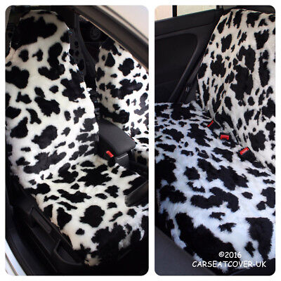 Toyota Aygo (2012-) Cow Faux Fur Car Seat Covers - Full Set