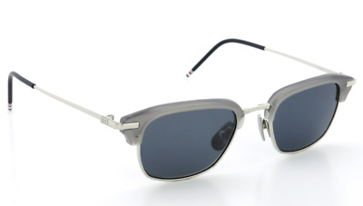 08a1b504aaa Authentic THOM BROWNE 707 B-T-GRY-SLV Sunglasses Satin Crystal Grey  NEW