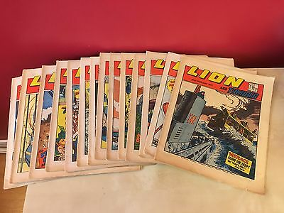 Lion And Thunder Comic Magazines - Run Of 14 Issues - Year: 1973