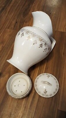 Vintage Homer Laughlin Bath Set, Large And Small Pitcher With Wash Basin/bowl An