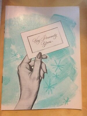 Vintage Girl's Very Personally Yours 1960s Menstruation Body Booklet Book