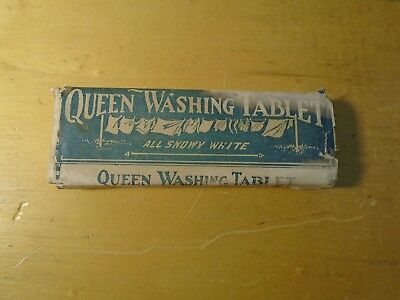 """1910, Unopened, """"Queen Washing Tablet"""", MFG by Peris Soap Co., Johnstown, Pa."""