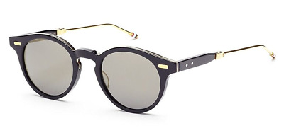 1675108d89b6 Authentic THOM BROWNE 806 C-NVY-GLD Folding Sunglasses Navy 18K Gold  NEW