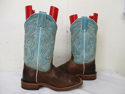 3f4be011b14 TONY LAMA BROWN Goat Leather Square Toe Cowboy Boots Women Size 6 B Style  7915L