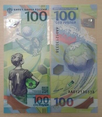 Russia 100 rubley banknote world Cup 2018 FIFA +25 Talisman Buy two +1 as a gift