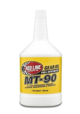 Red Line Oil Synthetic Manual Transmission Lubricant MT90 GL-4 75W90 1 Quarts