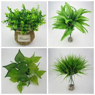 Outdoor Cloth Home Office Foliage Bush Green Grass Artificial Plant Fake Leaf