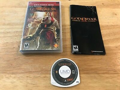 God of War: Chains of Olympus Sony Playstation Portable PSP System Complete Game