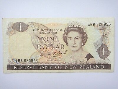 1989-1992 - New Zealand  $1 Dollar  Old Paper Banknote VF+ Condition