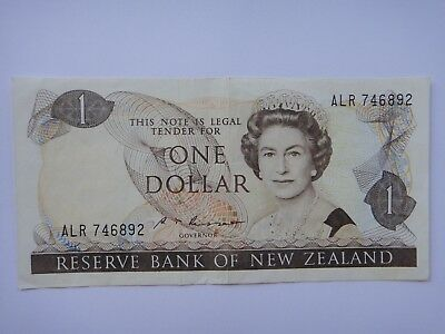 1985-1989 - New Zealand  $1 Dollar  Old Paper Banknote VF+++ Condition