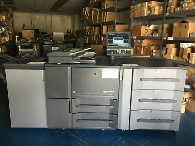 Konica Minolta Bizhub PRESS 1052 w/ PF-703 FS-532 LOW METER 623K CLICKS