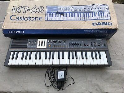 Vintage Casio Casiotone MT-68 Electronic Musical Keyboard Synthesizer