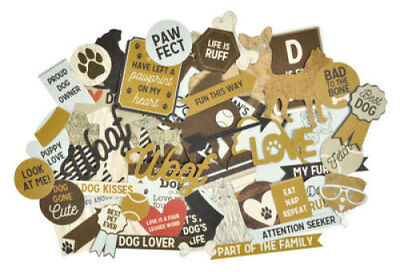*A&B* KAISERCRAFT Scrapbooking Collectables - Pawfect - CT876 - Dog