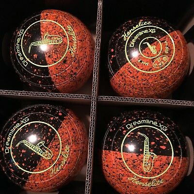 lawn bowls Dreamline xg size 4 ember colour stamped 27 as new