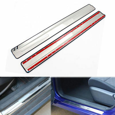 Stainless Door Sill Scuff Plate Guard Trims Protector For Ford Fiesta 2009-2015